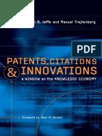 JaffeA&TrajtenbergM (2002)PatentsCitations&Innovations