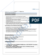 SAP Security Sample Resume 3
