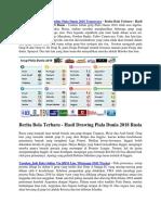 Berita Bola Terbaru - Hasil Drawing Piala Dunia 2018 Rusia