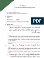 Kumpulan Bacaan Sholat Menurut Hadits Shohih