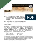 FEDZ Circular Letter for Nov 11