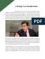 Rodrigo Lara, Rodrigo Lara Bonilla Pablo Escobar