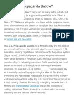 Are We in a Propaganda Bubble?  |  Ferris Eanfar
