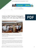 15. Gubernur Bali Temukan Kejanggalan Tender ULP, Lalu Apa Yang Dilakukan_ - Tribun Bali