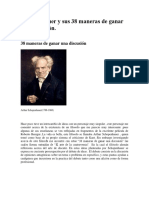 Schopenhauer y Sus 38 Maneras de Ganar Una Discusiòn