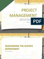 Acetate Department Case Analysis