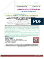 CLINICAL AND IMMUNOLOGICAL PECULIARITIES OF INFLAMMATORY PERIODONTAL DISEASES IN PREGNANT WOMEN ON THE BACKGROUND OF IRON DEFECTIVE ANEMIA