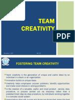Team Creativity