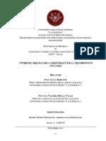 Tesi Di Dottorato - i Termini Inglesi Nel Linguaggio Dell'Informatica Italiano
