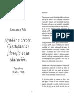 Tema 4. Ayudar a Crecer (L. Polo)