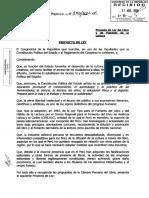 Proyecto Ley 540. (2001). Ley Del Libro y de Fomento de La Lectura