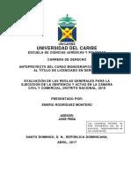 Anteproyecto Unicaribe Derecho