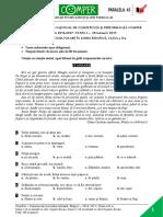 Subiect ComperComunicare EtapaI 2016 2017 ClasaII