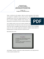 Compilers for embedded systems