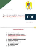 Curs 3 Analiza Spectrala a Semnalelor Neperiodice