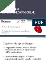 PDF NOVO Aula 6 -Exame Físico - Sistema Cardiovascular