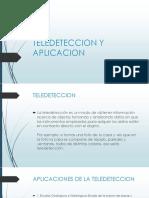 Teledeteccion y Aplicacion
