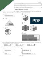 Relación Tema 6. Fracciones. Números decimales con soluciones