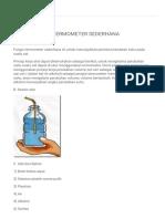 Thermometer Sederhana