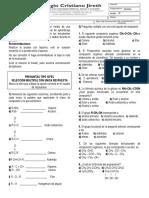 evaluacion quimica 11