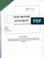 Test Métier Actuariat