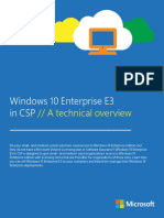 Windows 10 Enterprise E3 in CSP Technical Guide