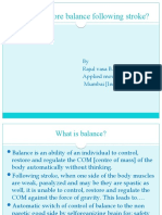 How to restore balance following stroke?