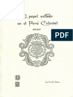 2007 Luz Peralta El Papel Sellado en El Perú Colonial
