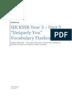 SJK KSSR YR3 - Unit 5 - Vocab Flashcards