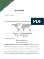 Mediterranian Climate
