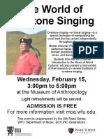 Overtone Singing Open House