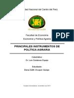 Principales Instrumentos de Politica Agraria