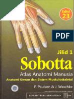 00. Cover Sobotta Atlas Anatomi Manusia Edisi 23 - Anatomi Umum Dan Sistem Muskuloskeletal Jilid 1