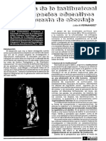 Fernández, L El Análisis Institucional en Los Espacios Educativos