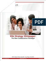 MindTouch Wiki Strategy Whitepaper