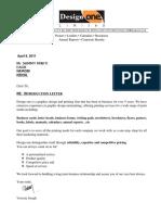 Design One Intro Letter