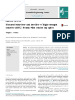Flexural Behaviour and Ductility of High Strength