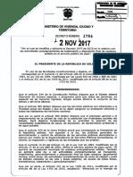 Decreto 1784 Del 02 de Noviembre de 2017 Aseo