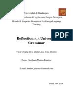 Reflection 3-5 Universal Grammar