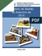 Relatório de Gestão Do Exercício de 2015 - Codevasf