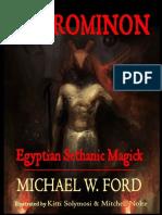 Necrominon Egyptian Sethanic Michael W Ford PDF