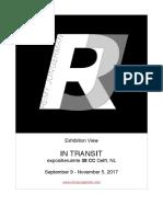 Rj - In Transit Solo Exhibition 38cc, Nl