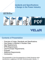 How Codes, Standards and Specifications Influence Valve Design in the Power Industry