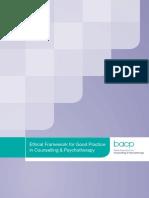 BACP Ethical Framework 2013
