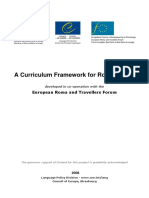 Curriculum Framework for Romani