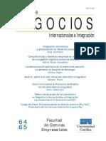 Cuadernos de Negocios Internacionales e Integración