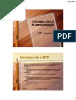 UT1 Introducción a La Metodología