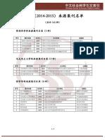 3、CSSCI(2014-2015)来源集刊目录(B1级别)