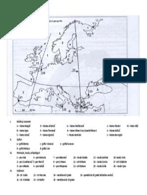 harta articulatiilor tarmurilor europei