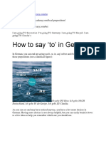 u vs. Nach vs. in – the Most Efficient Prepositions in German